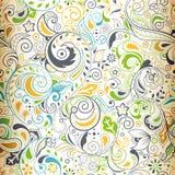 floral πρότυπο 2 άνευ ραφής διανυσματική απεικόνιση
