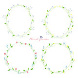 floral πλαίσια που τίθενται Στοκ φωτογραφία με δικαίωμα ελεύθερης χρήσης