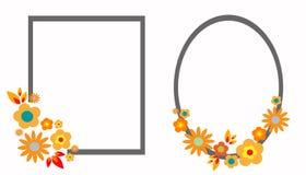 Floral πλαίσια διανυσματική απεικόνιση