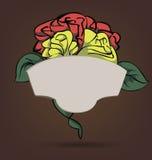 Floral πλαίσιο κινούμενων σχεδίων ελεύθερη απεικόνιση δικαιώματος