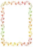 Floral πλαίσιο κλίσης με την πεταλούδα Στοκ Εικόνα