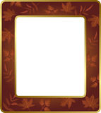 Floral πλαίσιο με τα φύλλα επίσης corel σύρετε το διάνυσμα απεικόνισης Στοκ φωτογραφία με δικαίωμα ελεύθερης χρήσης