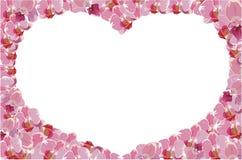 Floral πλαίσιο με την καρδιά Στοκ φωτογραφία με δικαίωμα ελεύθερης χρήσης
