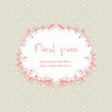 Floral πλαίσιο στεφανιών για το κείμενο διανυσματική απεικόνιση