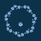 Floral πλαίσιο συνόρων και κύκλων Στοκ Φωτογραφίες