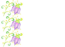 Floral πλαίσιο τέχνης, απομονωμένο υπόβαθρο Στοκ Εικόνα