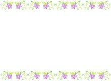 Floral πλαίσιο τέχνης, απομονωμένο υπόβαθρο Στοκ εικόνα με δικαίωμα ελεύθερης χρήσης