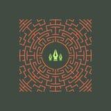 Floral πλαίσιο τέχνης γραμμών Διανυσματικό γραμμικό πλαίσιο Διακοσμητικό διανυσματικό σχέδιο πρότυπο εστιατορίων σχεδίου έννοιας  Στοκ Εικόνες