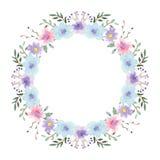 Floral πλαίσιο Watercolor Στοκ Φωτογραφίες