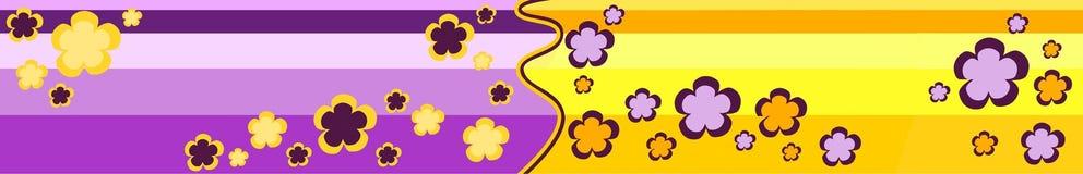 floral ριγωτή κορυφή Στοκ εικόνες με δικαίωμα ελεύθερης χρήσης