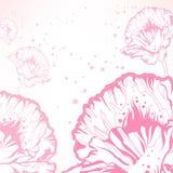 floral ροζ ανασκόπησης Στοκ Φωτογραφία