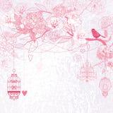 floral ροζ ανασκόπησης διανυσματική απεικόνιση