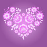 floral ροζ καρδιών απεικόνιση αποθεμάτων