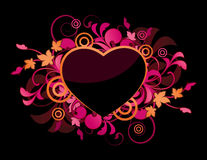 floral ροζ καρδιών Στοκ εικόνα με δικαίωμα ελεύθερης χρήσης