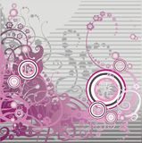 floral ροζ μπουκλών ανασκόπησης Στοκ εικόνα με δικαίωμα ελεύθερης χρήσης