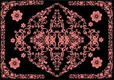 floral ροζ πλαισίων διακοσμήσ&e απεικόνιση αποθεμάτων