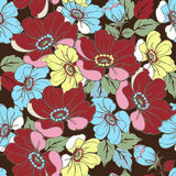 floral ροζ προτύπων άνευ ραφής Διακοσμητική διακόσμηση για το ύφασμα, FA Στοκ εικόνες με δικαίωμα ελεύθερης χρήσης