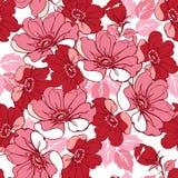 floral ροζ προτύπων άνευ ραφής Διακοσμητικό σκηνικό διακοσμήσεων για το ύφασμα, υφαντικό, τυλίγοντας έγγραφο Στοκ φωτογραφίες με δικαίωμα ελεύθερης χρήσης