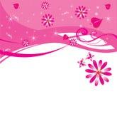 floral ροζ Στοκ Εικόνες