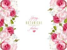 Floral ρομαντικό έμβλημα Στοκ φωτογραφία με δικαίωμα ελεύθερης χρήσης