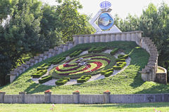 Floral ρολόι Timisoara Στοκ εικόνα με δικαίωμα ελεύθερης χρήσης