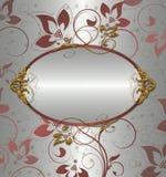 floral ρόδινο ασήμι ανασκόπησης Στοκ Εικόνες