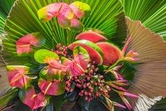 Floral ρύθμιση με τα καρπούζια Στοκ εικόνες με δικαίωμα ελεύθερης χρήσης