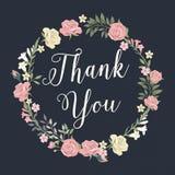 Floral σας ευχαριστήστε διανυσματική απεικόνιση