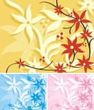 floral σειρά ανασκόπησης Στοκ Φωτογραφίες