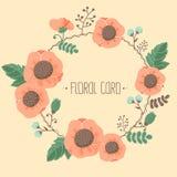 floral σειρά πλαισίων πλαισίων Στοκ Φωτογραφίες