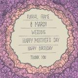 floral σειρά πλαισίων πλαισίων ελεύθερη απεικόνιση δικαιώματος