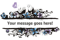 floral σειρά πλαισίων Στοκ εικόνες με δικαίωμα ελεύθερης χρήσης