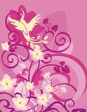 floral σειρά πουλιών ανασκόπησ&et Στοκ φωτογραφία με δικαίωμα ελεύθερης χρήσης
