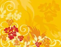 floral σειρά πουλιών ανασκόπησ&et Στοκ Εικόνα