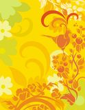 floral σειρά πουλιών ανασκόπησ&et Στοκ εικόνες με δικαίωμα ελεύθερης χρήσης