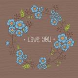 floral σειρά πλαισίων πλαισίων Στοκ φωτογραφίες με δικαίωμα ελεύθερης χρήσης