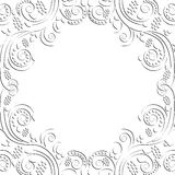floral σειρά πλαισίων πλαισίων Στοκ εικόνα με δικαίωμα ελεύθερης χρήσης