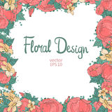 floral σειρά πλαισίων πλαισίων Στοκ Εικόνα