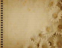 floral σπείρα σημειωματάριων σ&chi Στοκ φωτογραφία με δικαίωμα ελεύθερης χρήσης