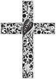 Floral σταυρός ελεύθερη απεικόνιση δικαιώματος