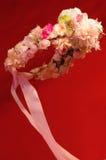 Floral στεφάνι στην τρίχα της Στοκ Φωτογραφίες