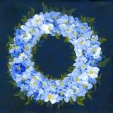 floral στεφάνι Στοκ Εικόνα