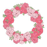 Floral στεφάνι Στοκ φωτογραφία με δικαίωμα ελεύθερης χρήσης