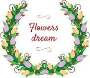 Floral στεφάνι Στοκ εικόνες με δικαίωμα ελεύθερης χρήσης