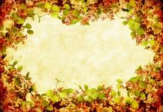 floral στεφάνι grunge Στοκ Φωτογραφίες
