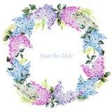 Floral στεφάνι Watercolor Στοκ φωτογραφία με δικαίωμα ελεύθερης χρήσης
