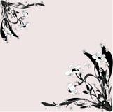 Floral στοιχείο αναδρομικός-σχεδίου Στοκ εικόνα με δικαίωμα ελεύθερης χρήσης