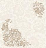 Floral στοιχείο σχεδίου με τους στροβίλους για την άνοιξη Στοκ φωτογραφία με δικαίωμα ελεύθερης χρήσης