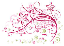 Floral στοιχείο Στοκ εικόνα με δικαίωμα ελεύθερης χρήσης