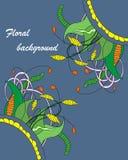 Floral στοιχείο Zentangle Στοκ Φωτογραφία